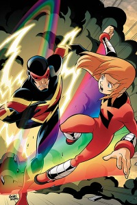 """The all-new Thunderbolts! Justice... like rainbows?"""