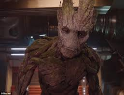 "Well he don't know talkin' good like me and you, so his vocabulistics is limited to ""I"" and ""am"" and ""Groot,"" exclusively in that order."