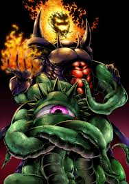Having given up their dreams of destroying the universe Shuma Gorath and Dormammu make the natural transition to - gangster rap.